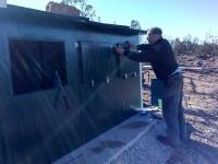 Construcción de muladar. Observatorio de aves. Año 2015.