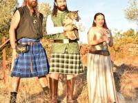 Lechuza y búho real, regalo del padrino en una ¡boda celta!