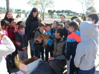 Con los niños de Valencia del Mombuey