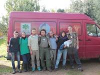 Parte del equipo de AMUS y VCF, concluído el chequeo y captura de los ejemplares de buitre leonado.